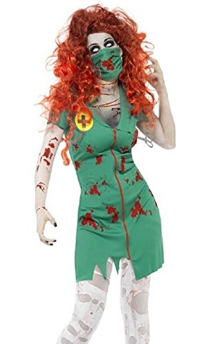 Damen Zombie Scrub Krankenschwester Paramedic NHS Halloween Fancy Kleid Kostüm Outfit ()