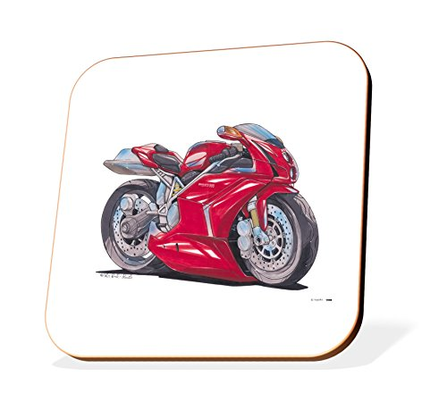 k1598-cst-koolart-gifts-cartoon-ducati-999-motorcycle-wooden-coaster-for-cups-mugs-motorbike-gifts-g