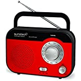 Sunstech RPS560RD - Radio de sobremesa AM/FM, altavoz, 800 mW RMS