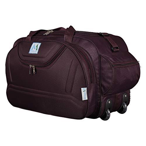 M MEDLER Nylon Expandable Wine Duffel Trolley Bag (Medium)