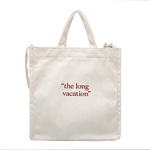 WWAVE Handtaschen für Damen Geldbörse Canvas Umhängetasche Reisen schreiben einzelne Schulter Hand Messenger Bag -