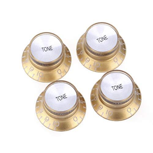 Musiclily Pro Imperial Pulgadas Tamaño Botones de Potenciómetros Reflector Tono Perillas para...