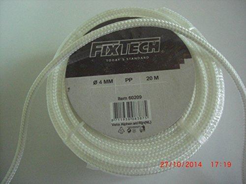 Preisvergleich Produktbild PP Seil, 16fach geflochten, 4mm, 20 Meter auf der Rolle