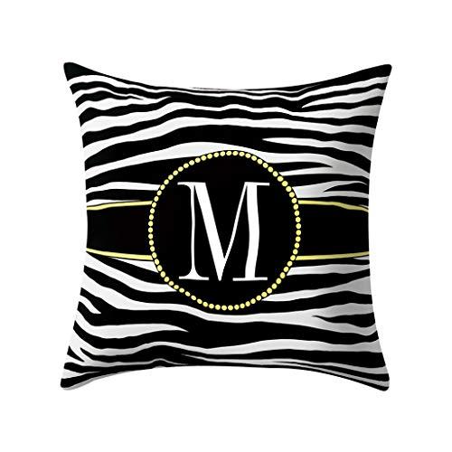 Tyoby Kissenbezüge Weich Einseitige Stickerei Heimtextilien Dekoration Sofa Stuhl Bettwäsche (M,45x45cm) - Bettwäsche-sofa-stuhl