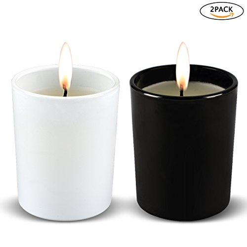 Duftkerzen 2 Stück Aromatherapie-Set von Duft Soja-Wachs, Gardenie, Vanille, Soja-Kerze für Stressabbau, Weihnachtsgeschenk … Vanille Kerze