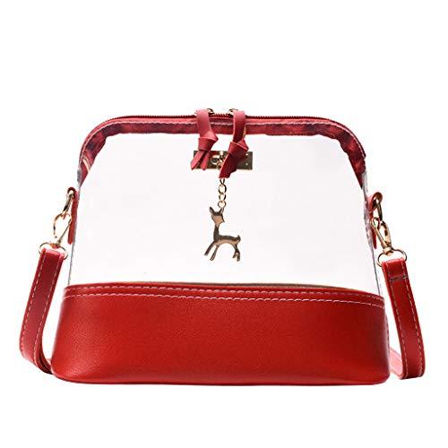 Bfmyxgs Muttertag Messenger Bag für Frauen Transparent Crossbody Bag Fawn Pendant Shell Shoulder Bag Totes Handtaschen Shoulder Tasche Rucksack Totes Waist Tasche Tasche Tasche Tasche Brustpaket -