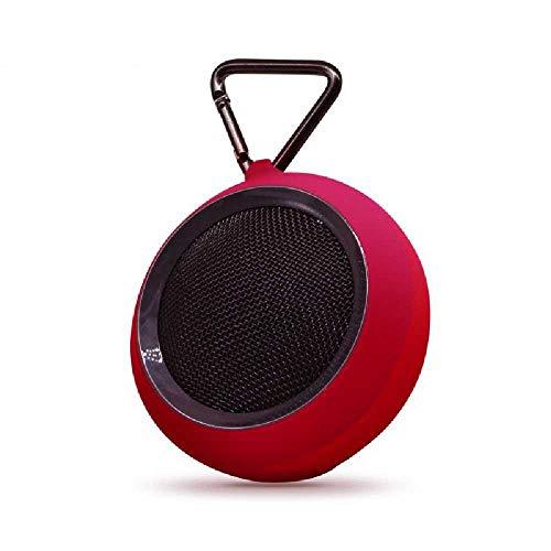 MittyL Privaten Modus, Bluetooth - Lautsprecher Runden Kabelloser Subwoofer wasserdichte Kleine Bluetooth - Audio Rot (Subwoofer-combo Und Box)