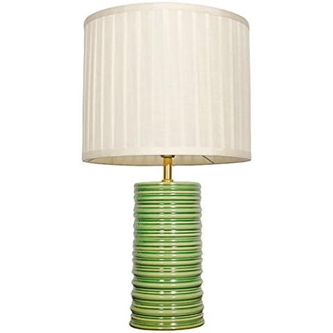 Ceramica verde arredi creativi studio sala camera da letto Sala cilindrico lampada da comodino caldo