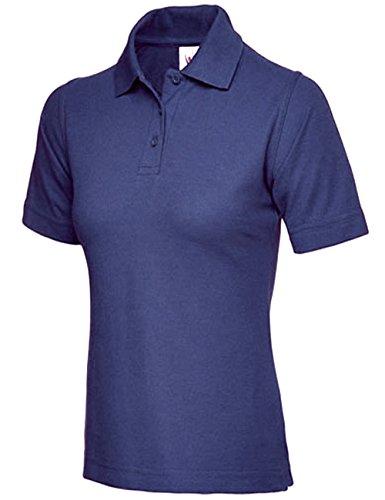Mesdames Polo Piqué Pour Homme Taille UK 8à 26Plus de travail Sport Casual Bleu Marine