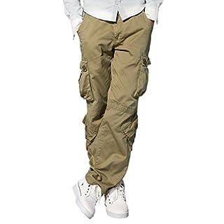 Match Men's Retro Casual Cargo Trousers #3357(Light khaki,32)