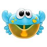 Blase Maschine Krabben Musik Licht elektrische Bubble Maker Baby Kids Outdoor Schwimmen Badewanne Seifenmaschine mit Musik Wasser Spielzeug niedlich ( Color : F 23X16CM )