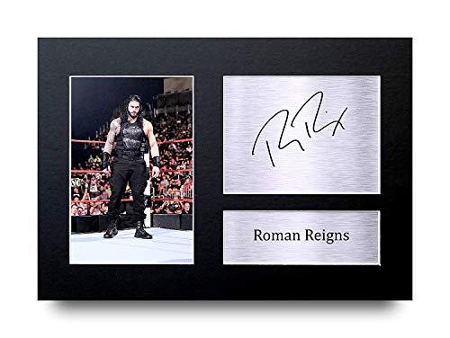 HWC Trading Roman Reigns Geschenke Unterzeichneten A4 Gedrucktes Autogramm WWE Ringen Druck-Foto-Bilderanzeige (Poster Wwe)