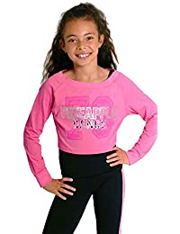 daed0e098 Pineapple DANCEWEAR Girls Long Sleeved Double Layer Dance Jumper Hot  Pink/Black