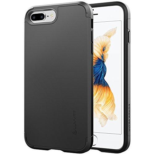 iPhone 7Pro Étui, luvvitt [Ultra Armor] absorption des chocs Coque Best Coque rigide double couche ultra résistante pour Apple iPhone 7Pro-Noir