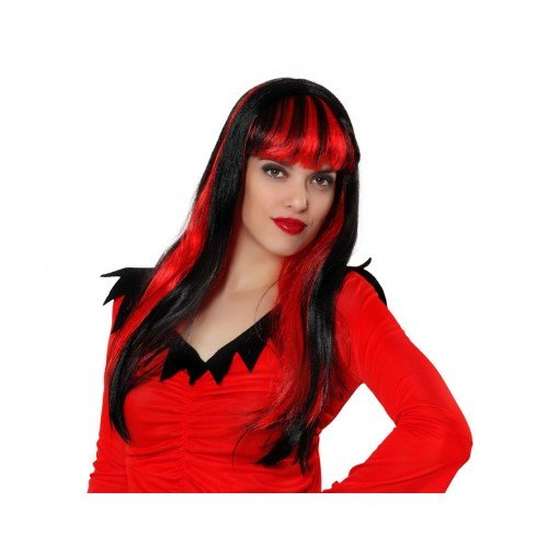 Hair Wig Demon Female Red & ()