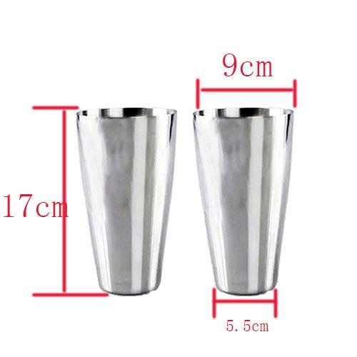 Großer Becher Eiskaffee (Edelstahlbecher 2 Stück, Silber, 0.75 Liter, Bierbecher Trinkbecher)