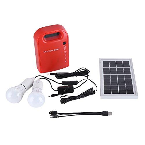 Especificación: Material: Plástico Frecuencia de salida: 50Hz Capacidad de la batería: 2AH Capacidad de salida del host: 1W Voltaje de salida: 12V Tamaño del producto:  Generador: Aprox. 125 * 45 * 185 mm / 4.9 * 1.8 * 7.3 pulgadas Panel solar: Aprox...