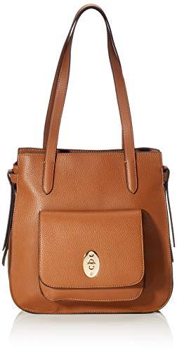 TOM TAILOR Shopper Damen, Krystal, Braun (Cognac), 31x31.5x10.5 cm, TOM TAILOR Schultertasche, Handtaschen Damen