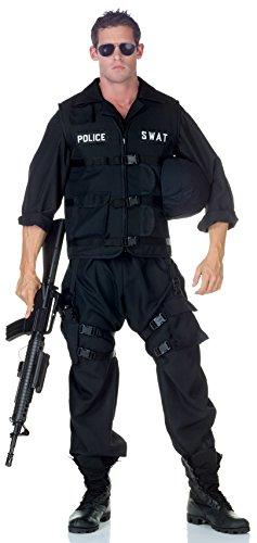 SWAT Team Polizei Officer Uniform Kostüm - M-L (Polizei Officer Kostüm Für Erwachsene)