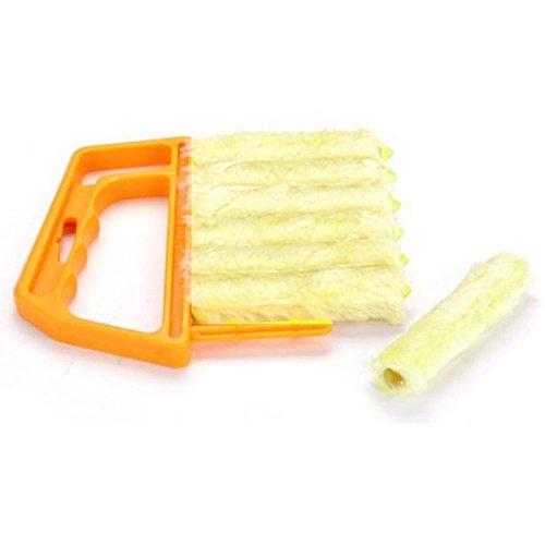 Kicode Brush Microfiber Louver Window Cleaner Easy Car Clean Windshield Tool Cleaning Product Wiper Household Gadget (Gewebe-haustier-haar-remover)
