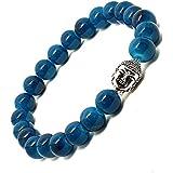Affaires Semi Precious Stone Yoga & Meditation Buddha Reiki Healing Beads Diffuser Beads Bracelets Unisex Color Turquoise ( B-6 )