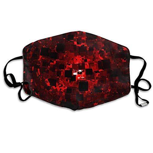Anti-Staub-Maske mit abstraktem rotem Druck, wiederverwendbar, waschbare Ohrschlaufe, Gesichtsmaske, für Männer und Frauen
