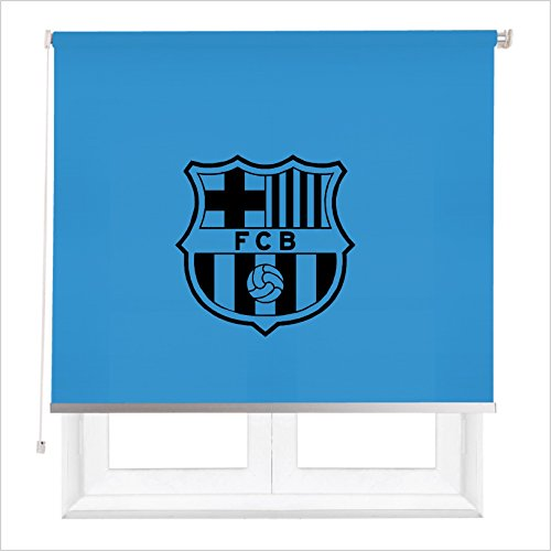 REGALOS ORIGINALES- ESTOR ENROLLABLE BARSA/ PERSIANA ESTOR CON ESCUDO FUTBOL BARCELONA (AZUL ROYAL, 120X180)
