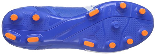 Puma evoSPEED 3.4 Lth FG Herren Fußballschuhe Blau (electric blue lemonade-white-orange clown fish 03)