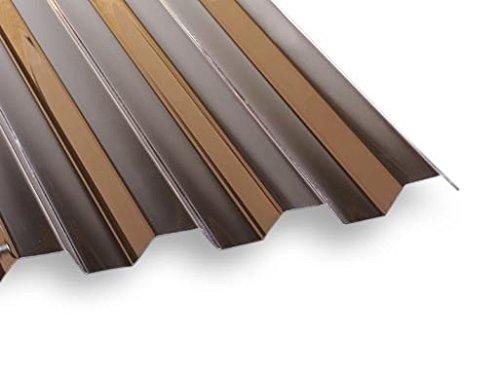 PVC Lichtwellplatte Profilplatte bronze Trapez K70/18 B1092 x L2000 mm