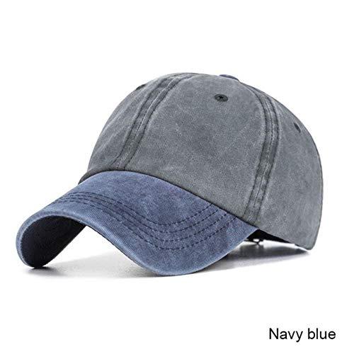 A-HXTM Cap Washed Baseball Cap Herren Damen Outdoor Sonnenhut Casual Farblich Passende Baseball Cap s B