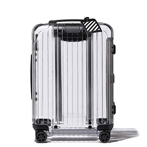 JBAG-one Transparenter Koffer, 20-Zoll-PC-Rollgepäck, integriertes TSA-Schloss, Spinner-Rad-Koffer für Frauen, Leichter Koffer zum Mitnehmen -