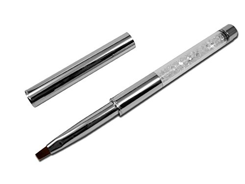 #RM Beautynails Profi UV-Gel PINSEL aus Echthaar mit Strasssteinen für Nageldesign größe 4#