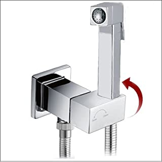 KIT6190: Square Style Pre-Set Thermostatic bidet shower kit with auto prompt water shut off valve