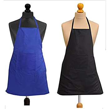 Yellow WeavesTM Waterproof Set of 2 Blue & Black Apron - 20 X 30 Inches
