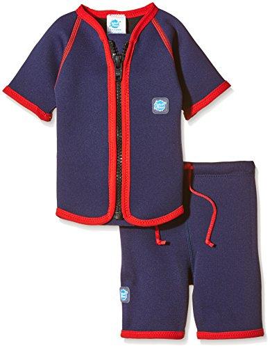 Splash About Kinder Schwimmanzug mit Weste und Shorts, Marine/rot, S (1-2 Jahre), JSN1 (Einfach Zusammen Kostüme)