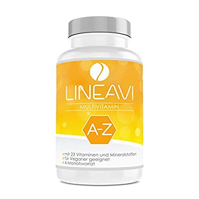 LINEAVI Multivitamin | high Dosage of 23 Vitamins and Minerals from A-Z | Supports The Normal Function of The Immune System | Made in Germany | 120 Vegan Capsules (4-Month Supply) from Soyan VitaMed Natur GmbH