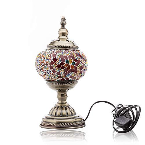 ik-Tischlampe Handgefertigte Einzigartige Glaslicht Mit Bronze-Basis,B ()