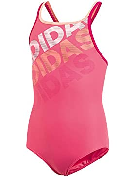 Adidas ragazza Lineage Costume da bagno, Bambina, CV4672, Real Pink/White, 116