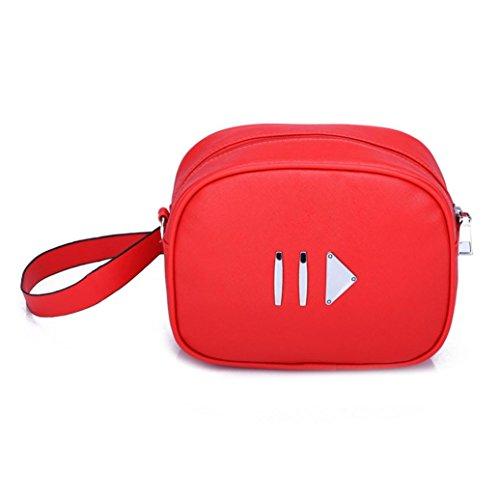 YOUBan Damen Schultertasche Reine Farbe Reißverschluss Leder Frauen Mode Tasche Umhängetasche Schultertasche Brusttasche