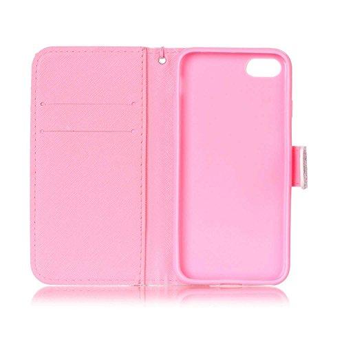 Owbb Attrapeur de rêves PU cuir Housse de protection coque pour iPhone 7 (4.7 Pouces) étui cover case Color 06