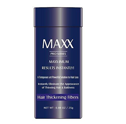 MAXX PRO-SERIE Volumengebende Haarfasern mit echtem Keratin bei dünnem Haar/Haarausfall - 60 Tage + Vorrat - Sofort maximale Ergebnisse - Verschiedene Farben verfügbar (Grau) Maxx-serie