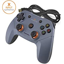 Amkette Evo Elite Wired PC Gamepad for PC/PS3/Android Compatible with Dual Vibration Rumble effect (black)