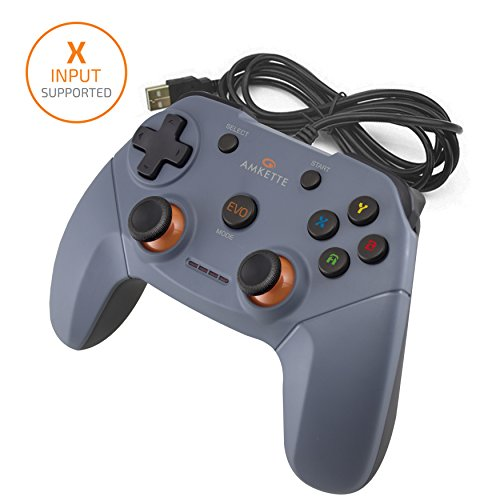 Amkette Evo Elite PC Gamepad for PC/PS3/Android Compatible with Dual Vibration Rumble effect
