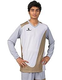 Triumph Men's Polyester Football Grey Goalie V Neck Uniform