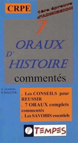 7 ORAUX D'HISTOIRE comments