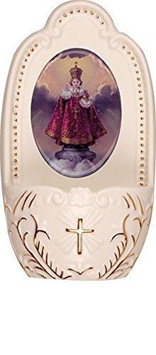 Florentina Sammlung (Porzellan Infant von Prag Kind Jesus Kleine Weihwasserbecken 12,7cm Florentiner Sammlung katholischen Geschenk)