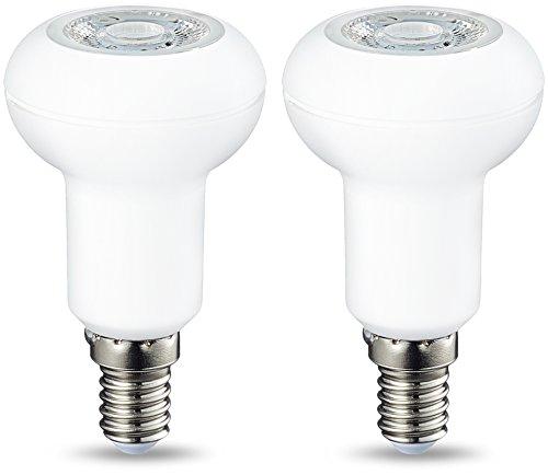 AmazonBasics E14 LED Lampe R50, Reflektor, 3.5W (ersetzt 40W), warmweiß, dimmbar - 2er-Pack -