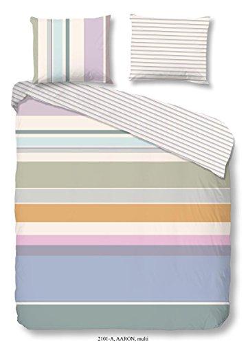 Good Morning Parure de lit 4 pièces Housse de couette 155 x 220 cm Taie d'oreiller 80 x 80 cm Aaron 2101.99.12 Menthe