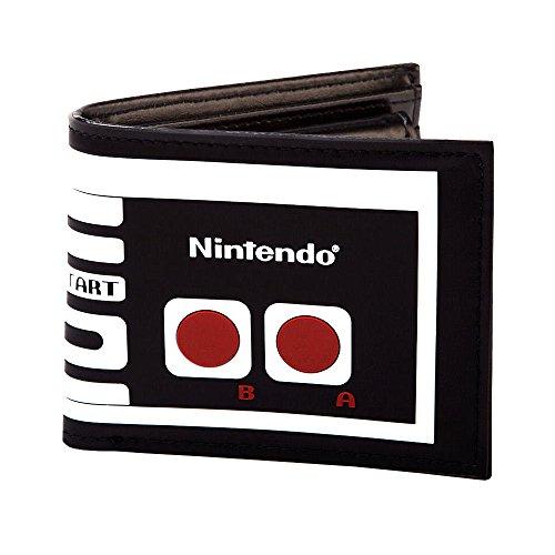 Nintendo - Cartera para hombre  Hombre Blanco blanco/negro