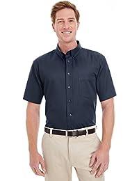 Men's Foundation 100% Cotton Short-Sleeve Twill Shirt TeflonÖ